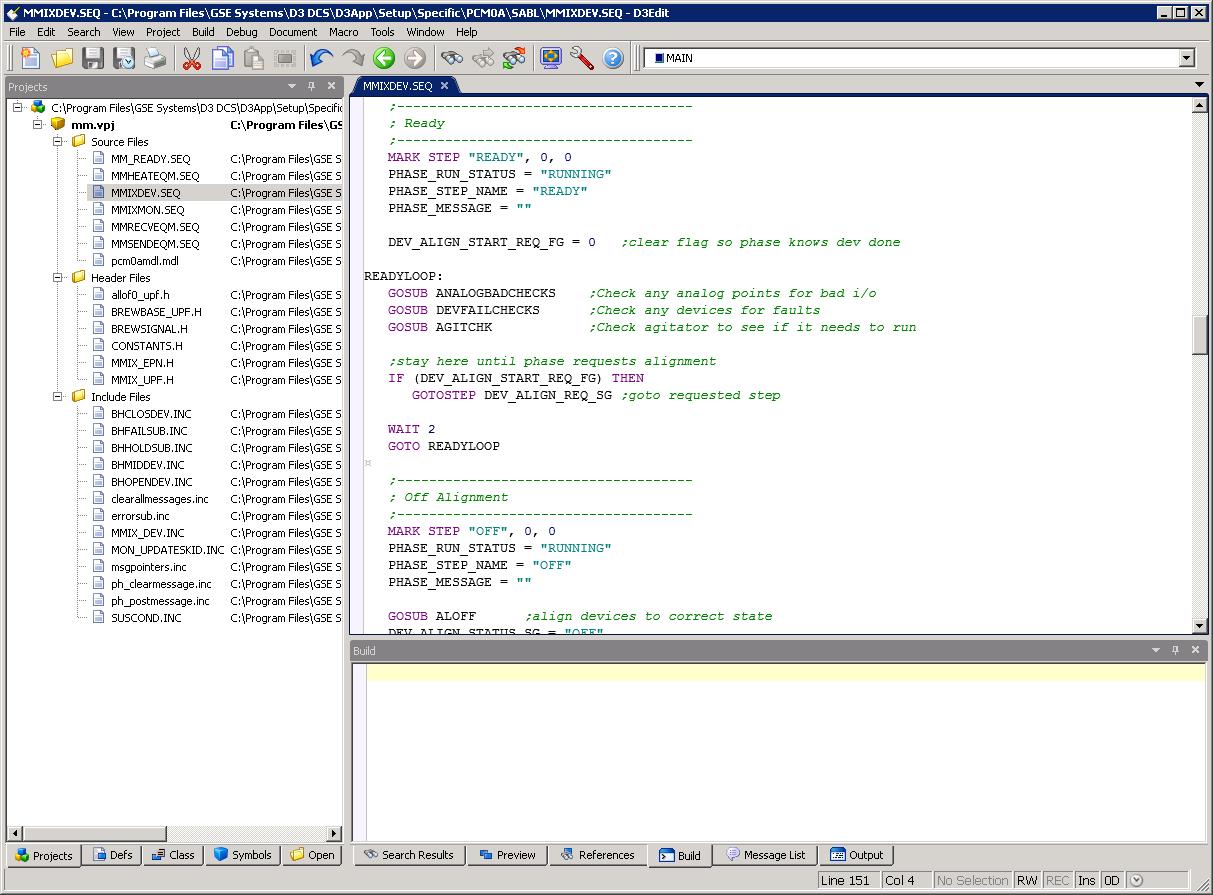 D3Edit Workspaces Screen Capture